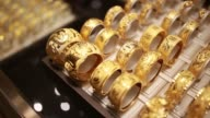 General views of gold bangles on display
