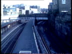 General views of Kings Cross in the late 1980s November 1989 Street sign 'Wicklow Street WC1' / trains along on tracks