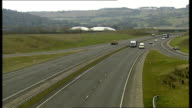 General views of motorway in Gloucestershire ENGLAND Gloucestershire EXT General views section of road where Princess Anne was caught for speeding