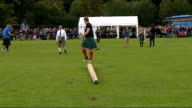 General views of Pitlochry Highland Games General views of men tossing the caber during competition