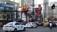 General views of rush hour traffic in the Makati district of Manila the Philippines on Friday Nov 20 2015