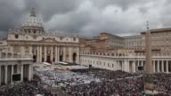 ATMOSPHERE General Views of Saint Peter's Square at Pope John Paul II And Pope John XXIII Are Declared Saints During A Vatican Mass at St Peter's...