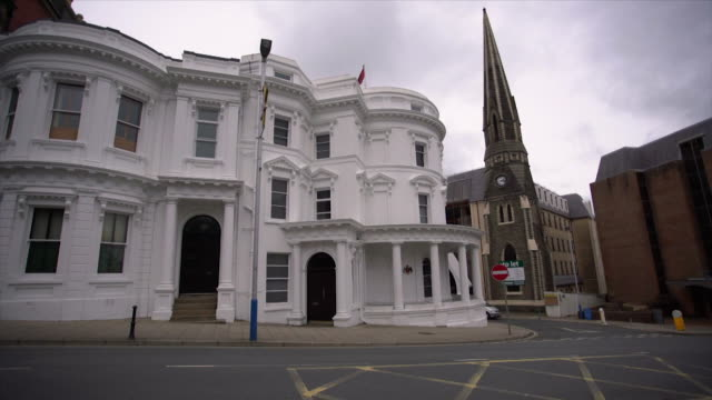 General views of the Isle of Man's parliament Tynwald in Douglas following allegations that the Isle of Man Government has aided tax avoidance 2017...