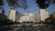 General views of the People's Bank Of China headquarters building in the financial district of Beijing China on Saturday Nov 8