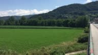 General views of the track that 1000s of migrants used everyday to enter Slovenia on July 19 2016 in Rigonce Slovenia Last summer thousands of...