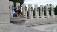 General views of the World War II Memorial on the National Mall August 8 2016 in Washington DC Dedicated in 2004 the memorial features 24 bronze...