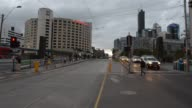 Generic footage of the city of Melbourne Australia on August 7 2015 Shots wide shot of the city shot of emblem pan left of city and bridge wide shots...