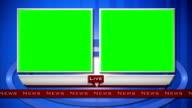 Generico Live di News intervista schermo suddiviso