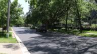 Generic suburban homes and street scene