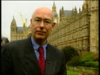 Labelling/Pollen ITN London Westminster i/c Ian Gibson MP interview SOT always scepticism in scientists' judgement / all the background to scientific...