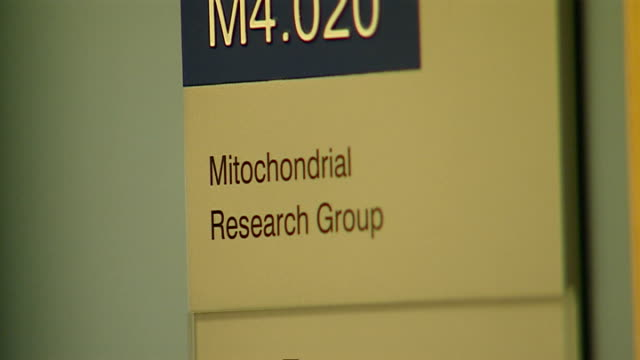 GVs of Mitochondrial Research Group lab ENGLAND Sunderland Newcastle University Mitochondrial Research Group INT GVs test vials / BV lab technician...