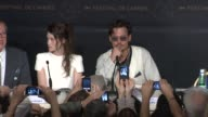 Geoffrey Rush Astrid BergesFrisbey Johnny Depp arrive at the Press Conference at the Pirate of the Caribbean On Strange Tides 64th Cannes Film...