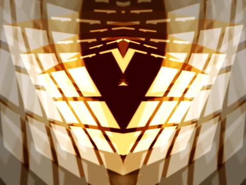 Geometric Rorschach Cube Design
