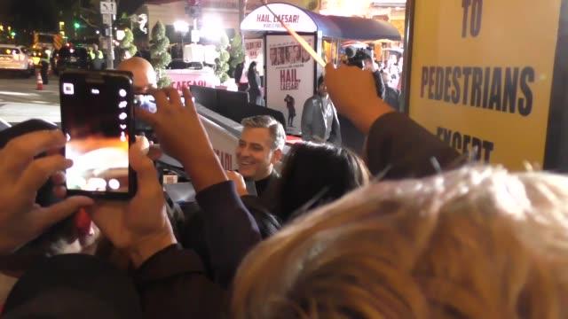 George Clooney Amal Clooney arrives to Hail Caesar Premiere at Regency Village Theatre in Westwood in Celebrity Sightings in Los Angeles