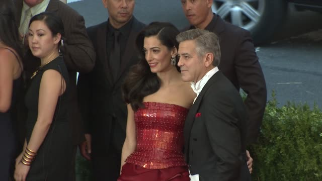 George Clooney Amal Clooney at 'China Through The Looking Glass' Costume Institute Benefit Gala Arrivals at Metropolitan Museum of Art on May 04 2015...
