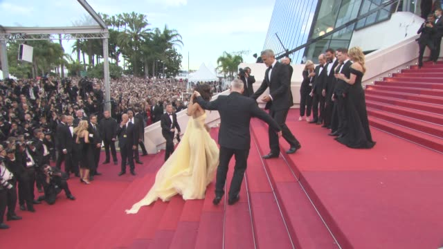 George Clooney Amal Clooney at 'Money Monster' Red Carpet on May 12 2016 in Cannes France