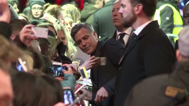 George Clooney and his wife Amal as well as Channing Tatum and Tilda Swinton walk the red carpet on the opening night of Germanys Berlinale film...