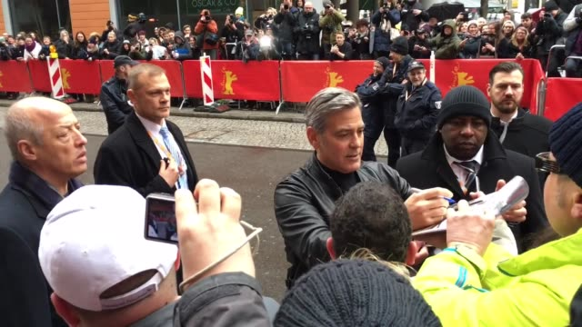 George Clooney at Celebrity Sightings in Berlin on February 11 2016 in Berlin Germany