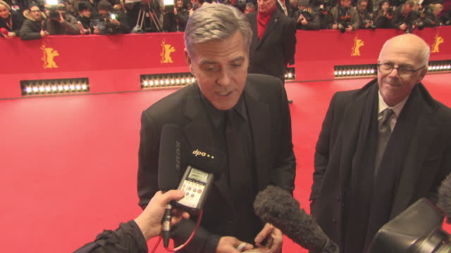 George Clooney at 'Hail Caesar' Opening Ceremony Red Carpet 66th Berlin International Film Festival at Grand Hyatt Hotel on February 11 2016 in...