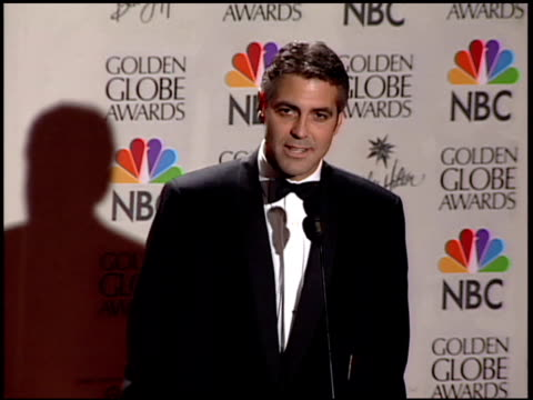George Clooney at the 2001 Golden Globe Awards at the Beverly Hilton in Beverly Hills California on January 21 2001