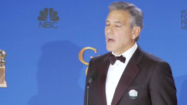George Clooney at the press conference of the Golden Globes 2015