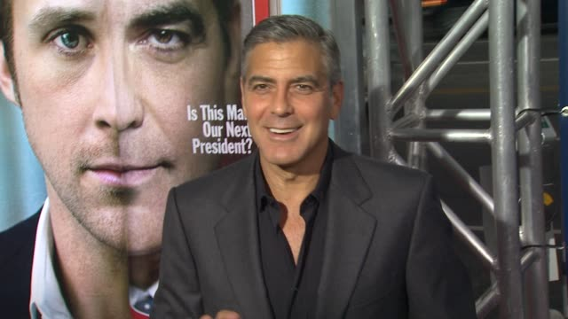 George Clooney at the 'The Ides Of March' Los Angeles Premiere at Beverly Hills CA