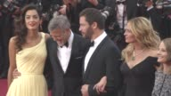George Clooney Jodie Foster Julia Roberts Amal Clooney Dominic West Caitriona Balfe Jack O'Connell at 'Money Monster' Red Carpet on May 12 2016 in...