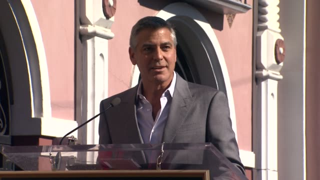 George Clooney on John Wells at John Wells Honored With Star On The Hollywood Walk Of Fame on 1/12/12 in Hollywood CA