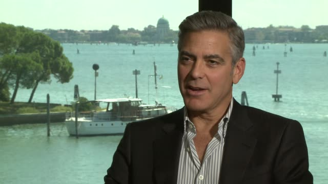 INTERVIEW George Clooney on working with Sandra Bullock at 'Gravity' Interview on August 29 2013 in Venice Italy