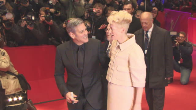 George Clooney Tilda Swinton at 'Hail Caesar' Opening Ceremony Red Carpet 66th Berlin International Film Festival at Grand Hyatt Hotel on February 11...