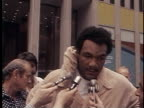 George Foreman and Joe Frazier prepare for their rematch near Rockefeller Center George Foreman Talks About Joe Frazier Rematch on April 01 1976 in...