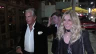 George Hamilton and Alana Stewart arrive at George Hamilton's 76th birthday party at Aventine in Hollywood at Celebrity Sightings in Los Angeles on...