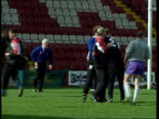 George Orwell Wigan Warriors players training Farrell intvwd New stadium is the way to go