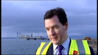 George Osborne and Danny Alexander visit Nigg Energy Park George Osborne MP interview SOT On 50p tax rate not looking at that the priority is to get...