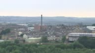 George Osborne calls for HS3 rail link for Northern England Yorkshire Wide shot of buildings PAN Train along railway tracks near Drax Power Station...