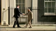 George Osborne handshake with Indian Finance Minister ENGLAND London Downing Street No11 rogue soundtrack on Audio track 2** George Osborne MP out of...