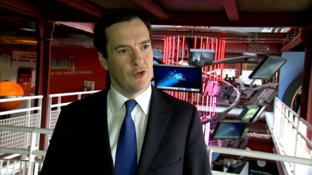 George Osborne in Manchester George Osborne Interview SOT re invesment in science and infrastructure in Manchester and North West of England/...