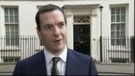 George Osborne meets NFL teams at Downing Street George Osborne MP interview SOT Unidentified NFL presentatives interview SOT