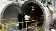 George Osborne opens GKN Aerospace Western Approach in Bristol ENGLAND Bristol GKN Aerospace EXT George Osborne MP arriving greeting GKN staff and...