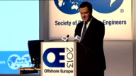 George Osborne speech at Offshore Europe George Osborne along to podium George Osborne MP speech SOT Good morning I'm delighted to be here in...