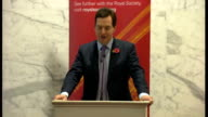 George Osborne speech at the Royal Society ENGLAND London Royal Society PHOTOGRAPHY** George Osborne MP arriving and being shown mace in glass...
