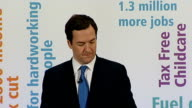 George Osborne speech on full employment at Tilbury Port ENGLAND Essex Tilbury Port INT George Osborne MP along to podium and speech SOT please check...