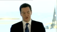 George Osborne speech on prospect of currency union with an independent Scotland Osborne speech SOT Scotland's economic conditions are taken into...
