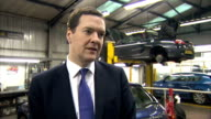 George Osborne visits garage in Enfield George Osborne MP interview SOT On national insurance changes / new employment allowance / goes to all...