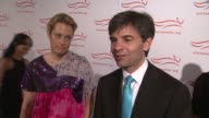 George Stephanopoulos and Ali Wentworth talk about Michael being amazing to watch they joke that they're going to take Ricky Gervais home for snacks...