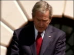 George W Bush makes mistake in speech and winks at Queen Elizabeth II White House May 07