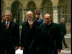 George W Bush meets Vladimir Putin amid diplomatic tensions SLOVAKIA Bratislava George W Bush Vladimir Putin and Ivan Gasparovic walking towards...