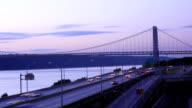 George Washington Bridge & West Side Hwy Timelapse