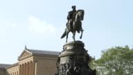MS George Washington statue at Philadelphia Art Museum / Philladelphia, PA, USA