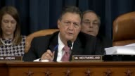 Georgia Rep Lynn Westmoreland a member of the House Select Committee on Benghazi queries former Secretary of State Hillary Clinton about the...